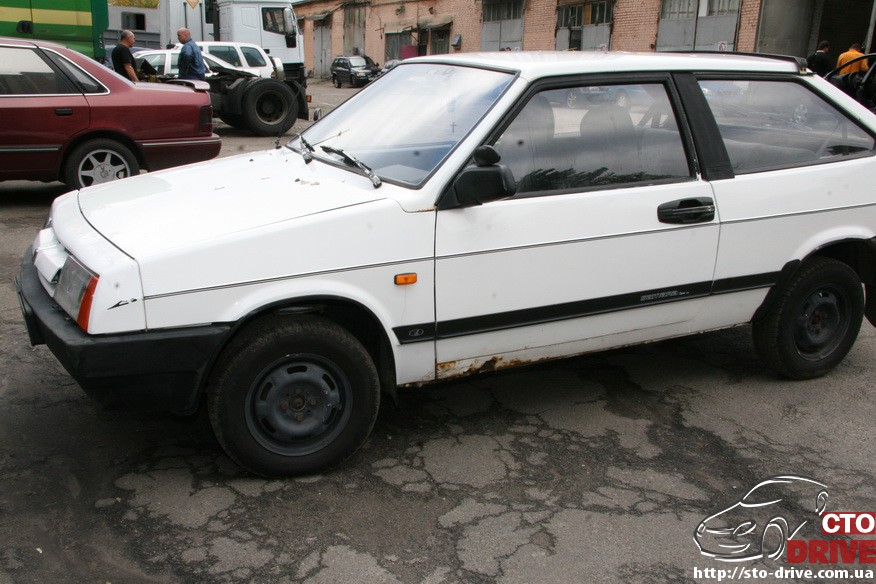 kuzovnoy remont vaz 2108 zamena poroga pokraska 0557 Кузовной ремонт ВАЗ 2108   замена порога, покраска