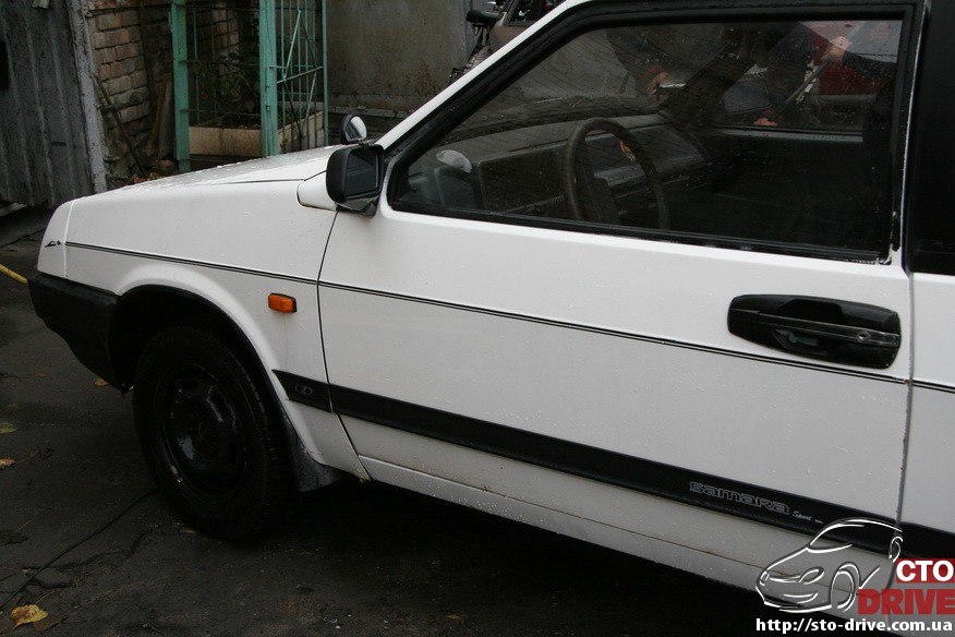 kuzovnoy remont vaz 2108 zamena poroga pokraska 1734 Кузовной ремонт ВАЗ 2108   замена порога, покраска