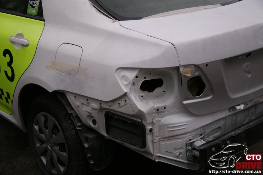 kuzovnoy remont toyota corolla avtomobil taksi 3471 Кузовной ремонт Toyota Corolla (автомобиль такси)