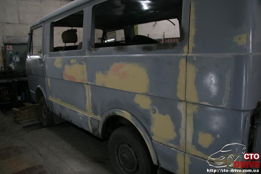 polnaya pokraska busa volkswagen lt 28 9665 Полная покраска микроавтобуса   Volkswagen LT 28. Капремонт двигателя. Антикоррозийная обработка