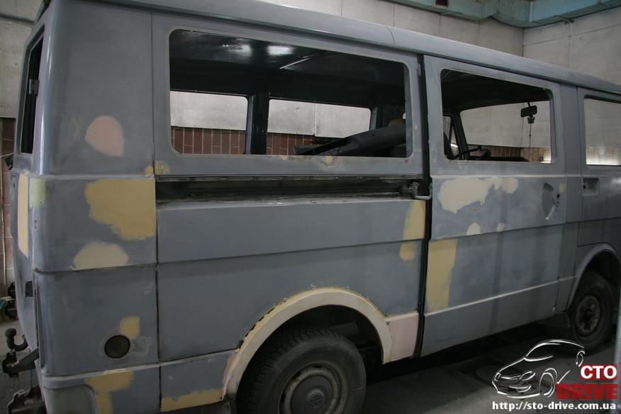 polnaya pokraska busa volkswagen lt 28 9848 Полная покраска микроавтобуса   Volkswagen LT 28. Капремонт двигателя. Антикоррозийная обработка