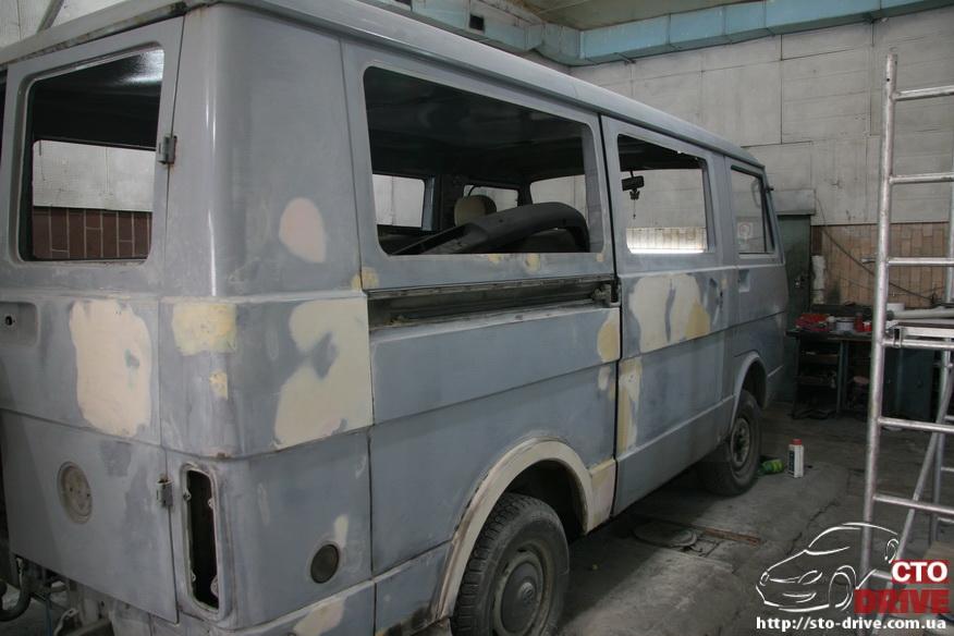 polnaya pokraska busa volkswagen lt 28 9930 Полная покраска микроавтобуса   Volkswagen LT 28. Капремонт двигателя. Антикоррозийная обработка