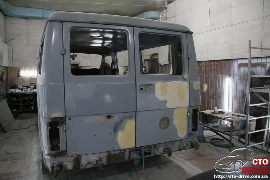 polnaya pokraska busa volkswagen lt 28 9987 Полная покраска микроавтобуса   Volkswagen LT 28. Капремонт двигателя. Антикоррозийная обработка