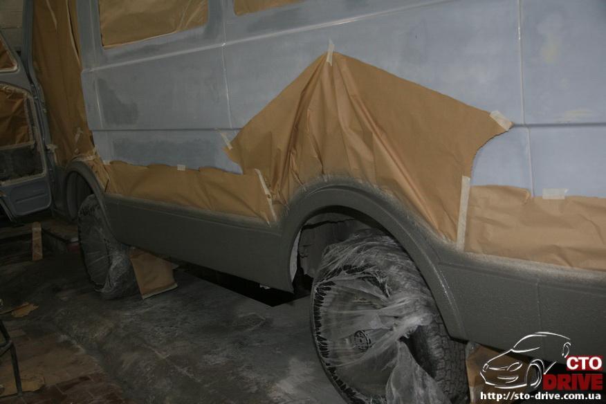 polnaya pokraska mikroavtobusa volkswagen lt 28 0687 Полная покраска микроавтобуса   Volkswagen LT 28. Капремонт двигателя. Антикоррозийная обработка