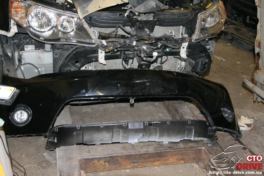 remont bamperov rihtovka pokraska avto mitsubishi outlander xl 2908 Ремонт бамперов, рихтовка, покраска авто   Mitsubishi Outlander XL