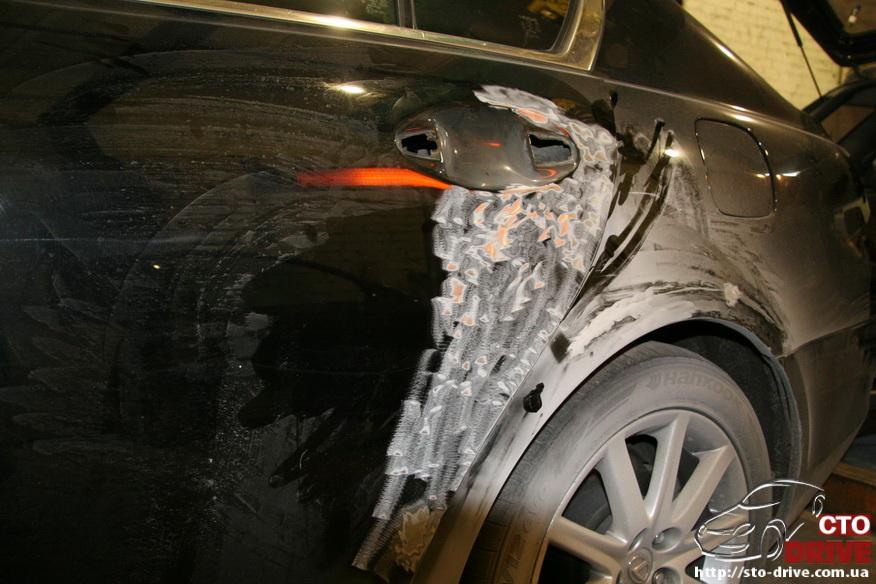 rihtovka i pokraska avto lexus gs300 2500 Рихтовка и покраска авто   Lexus GS300