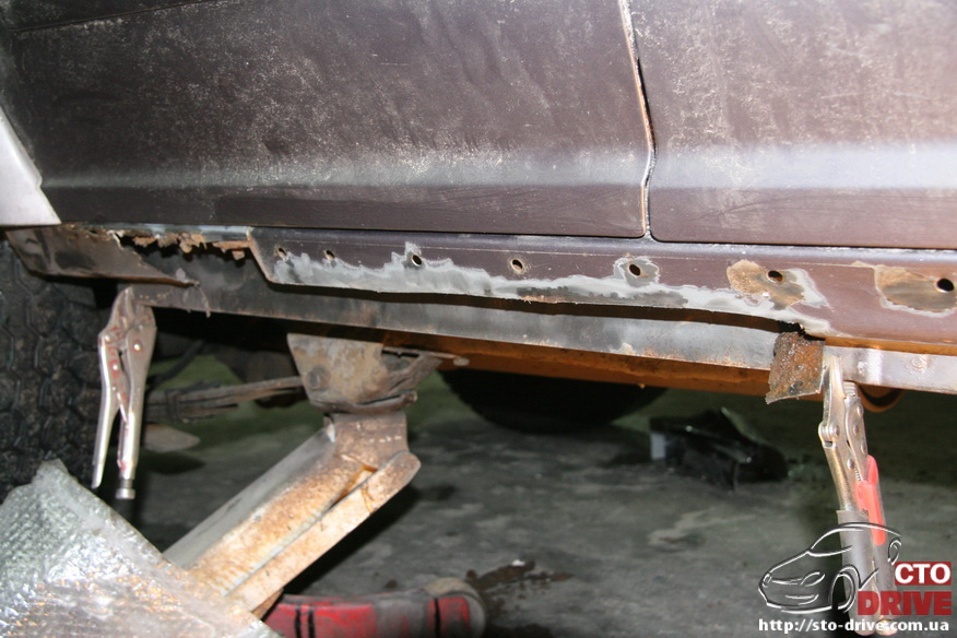 remont porogov ford explorer tolko svarochnyie rabotyi 6776 Ремонт порогов   Ford Explorer. Только сварочные работы