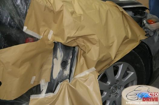 rihtovka dveri stoyki zamena kryila pokraska avto toyota camry 6545 526x350 custom Рихтовка двери, стойки, замена крыла, покраска авто   Toyota Camry