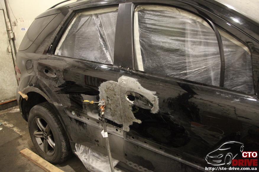 rihtovka pokraska dverey i zadnego kryila mercedes ml350 2310 Рихтовка, покраска дверей и заднего крыла   Mercedes ML350