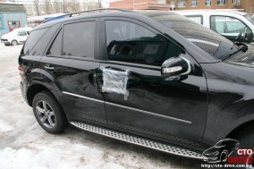 rihtovka pokraska dverey i zadnego kryila mercedes ml350 6471 284x189 custom Рихтовка, покраска дверей и заднего крыла   Mercedes ML350