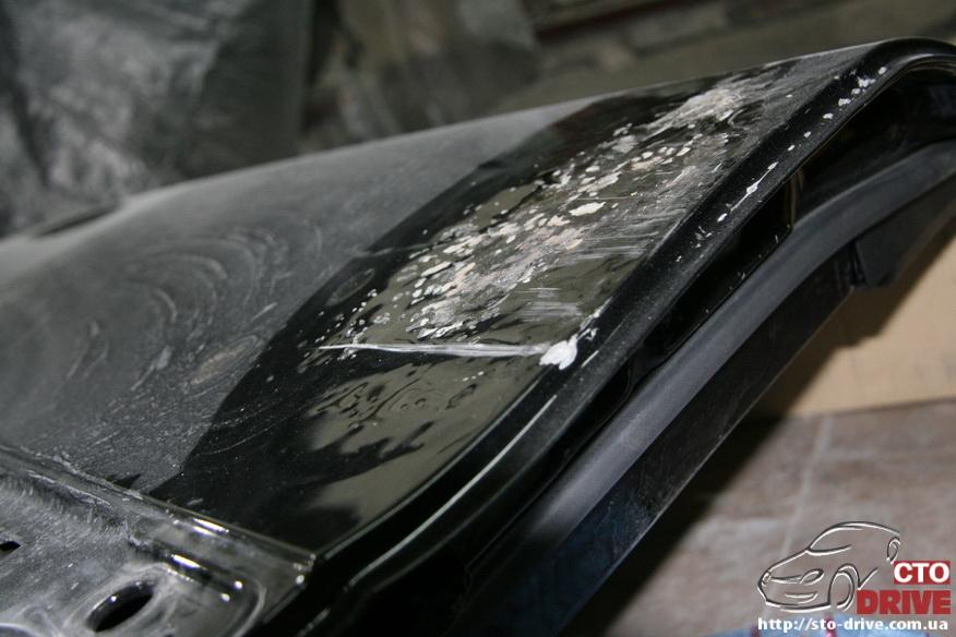 rihtovka pokraska dverey i zadnego kryila mercedes ml350 7023 Рихтовка, покраска дверей и заднего крыла   Mercedes ML350