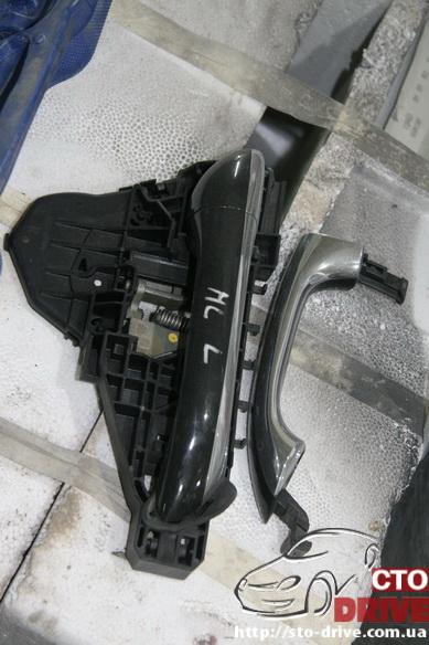 rihtovka pokraska dverey i zadnego kryila mercedes ml350 7073 Рихтовка, покраска дверей и заднего крыла   Mercedes ML350