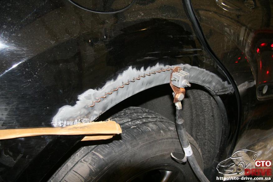 rihtovka pokraska dverey i zadnego kryila mercedes ml350 7092 Рихтовка, покраска дверей и заднего крыла   Mercedes ML350