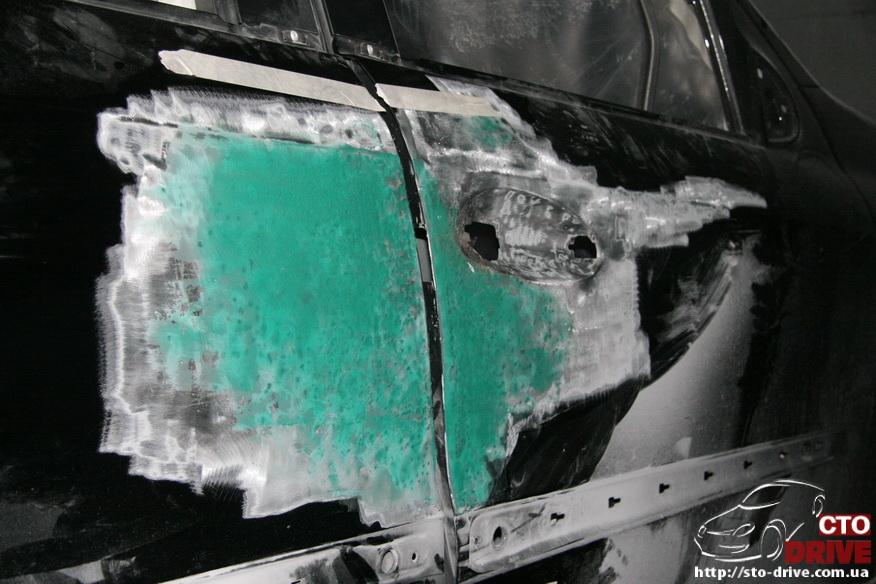 rihtovka pokraska dverey i zadnego kryila mercedes ml350 7195 Рихтовка, покраска дверей и заднего крыла   Mercedes ML350