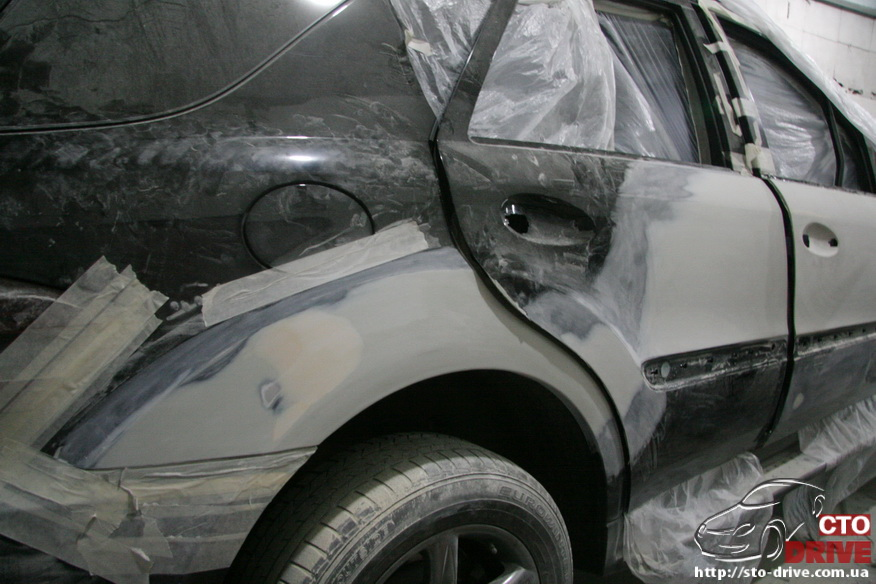 rihtovka pokraska dverey i zadnego kryila mercedes ml350 7664 Рихтовка, покраска дверей и заднего крыла   Mercedes ML350