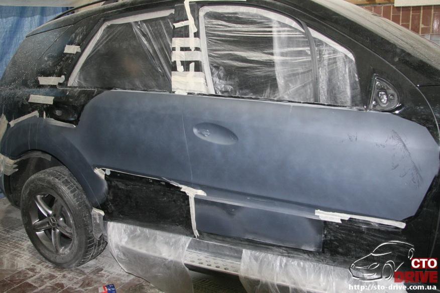 rihtovka pokraska dverey i zadnego kryila mercedes ml350 7672 Рихтовка, покраска дверей и заднего крыла   Mercedes ML350