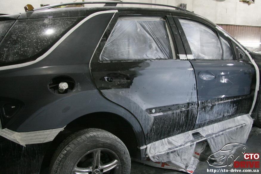 rihtovka pokraska dverey i zadnego kryila mercedes ml350 7723 Рихтовка, покраска дверей и заднего крыла   Mercedes ML350