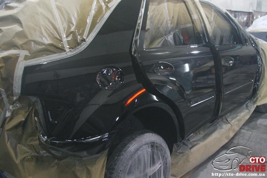 rihtovka pokraska dverey i zadnego kryila mercedes ml350 7766 Рихтовка, покраска дверей и заднего крыла   Mercedes ML350