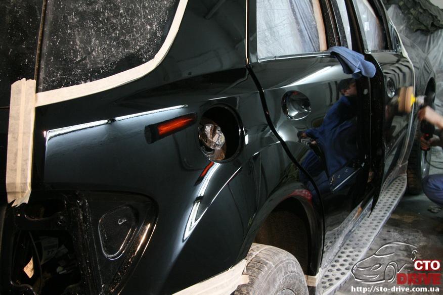 rihtovka pokraska dverey i zadnego kryila mercedes ml350 7994 Рихтовка, покраска дверей и заднего крыла   Mercedes ML350