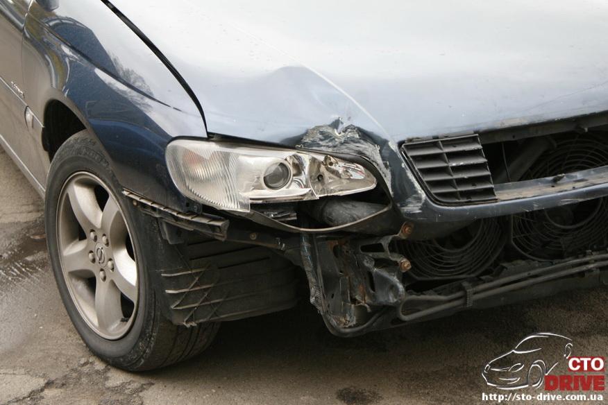 rihtovka pokraska opel omega 1172 Рихтовка, покраска авто   Opel Omega. Замена передней панели. Восстановление геометрии кузова