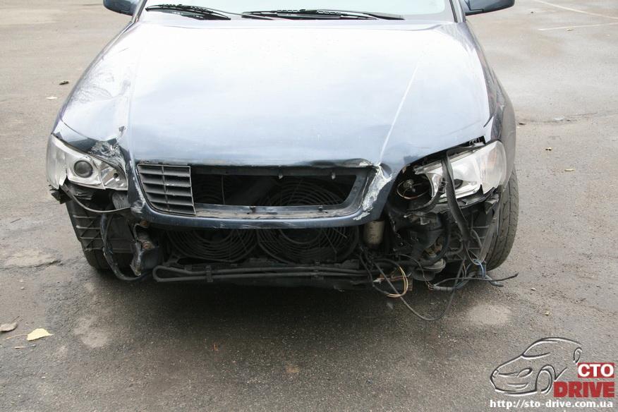 rihtovka pokraska opel omega 1732 Рихтовка, покраска авто   Opel Omega. Замена передней панели. Восстановление геометрии кузова