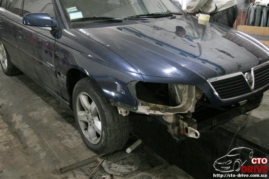 rihtovka pokraska opel omega 2366 Рихтовка, покраска авто   Opel Omega. Замена передней панели. Восстановление геометрии кузова