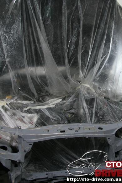 rihtovka pokraska opel omega 2507 Рихтовка, покраска авто   Opel Omega. Замена передней панели. Восстановление геометрии кузова