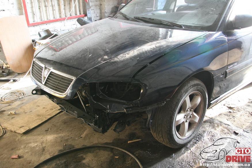 rihtovka pokraska opel omega 2586 Рихтовка, покраска авто   Opel Omega. Замена передней панели. Восстановление геометрии кузова