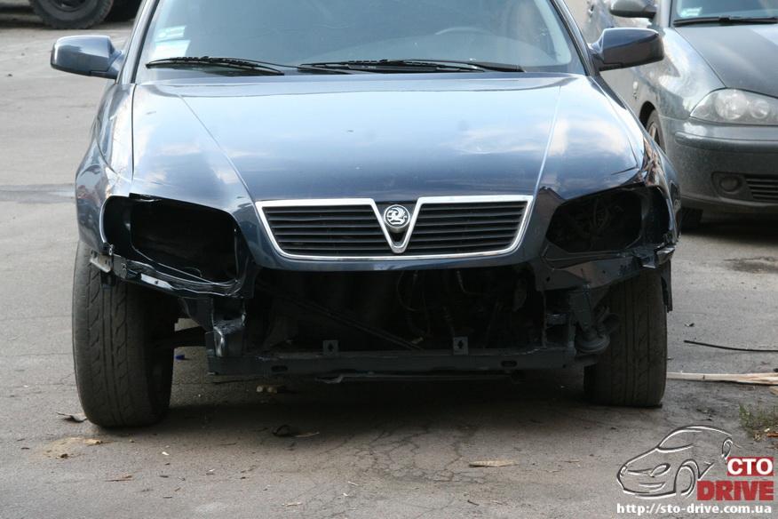 rihtovka pokraska opel omega 2883 Рихтовка, покраска авто   Opel Omega. Замена передней панели. Восстановление геометрии кузова